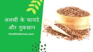 अलसी के फायदे एंव नुकसान | Flaxseeds Benefits and Side-effects in Hindi